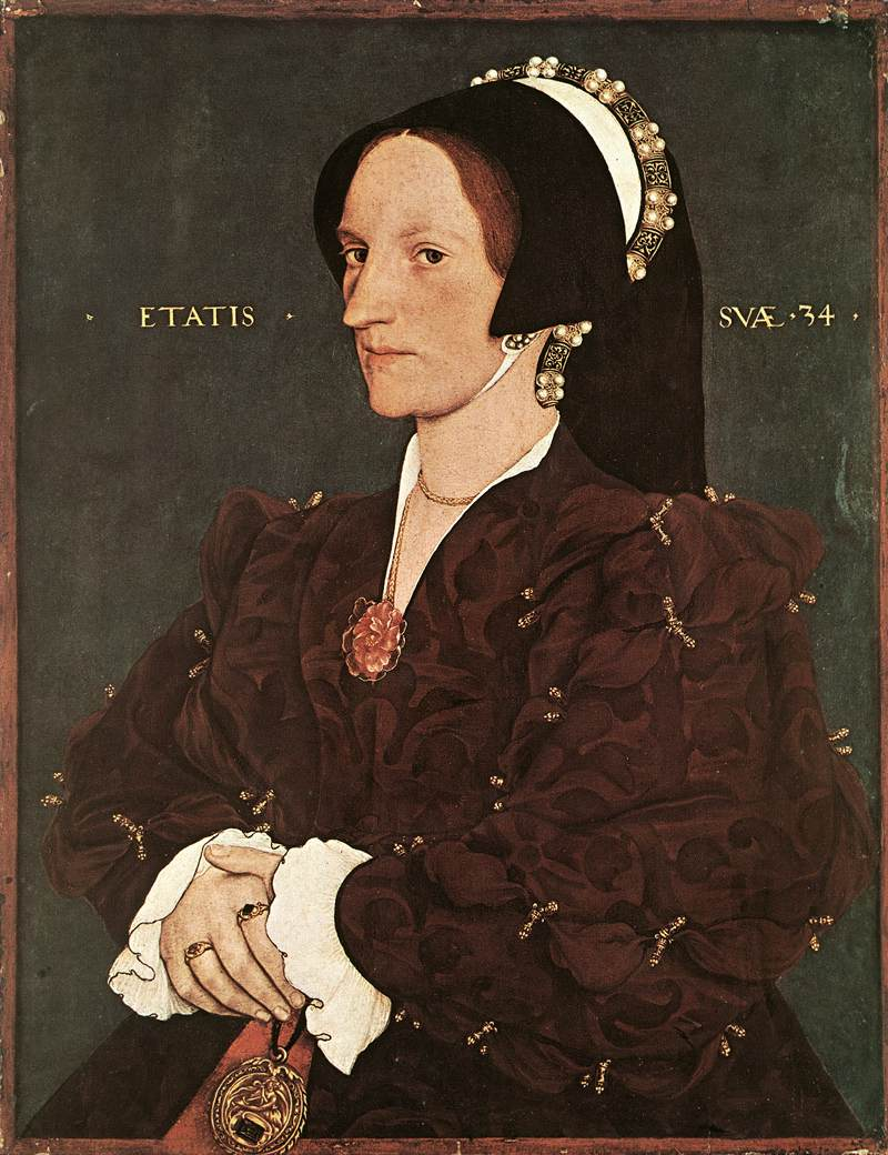 1540 - HOLBEIN, Hans the Younger - Portrait of Margaret Wyatt