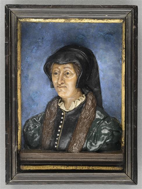 1590s? - Médaillon en cire : Marguerite de Valois