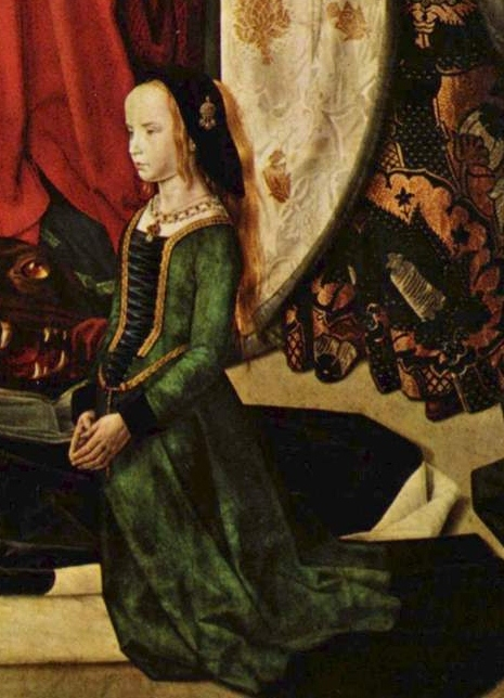1475 - young girl in Portinari Altarpiece