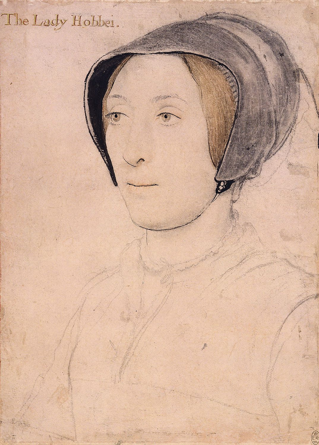 1536 - Lady Hoby by Holbein the Younger