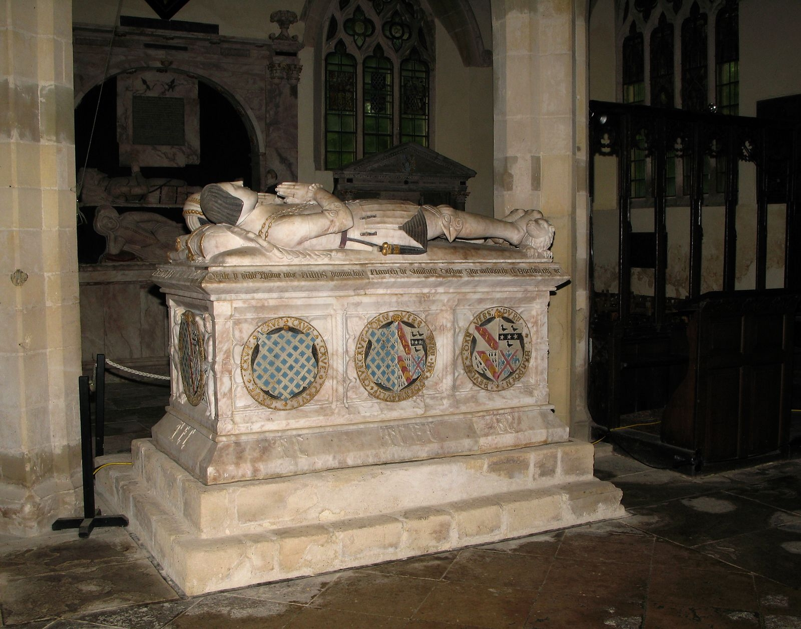 1558 - Memorial of Sir Thomas Cave and Elizabeth cave d.1558