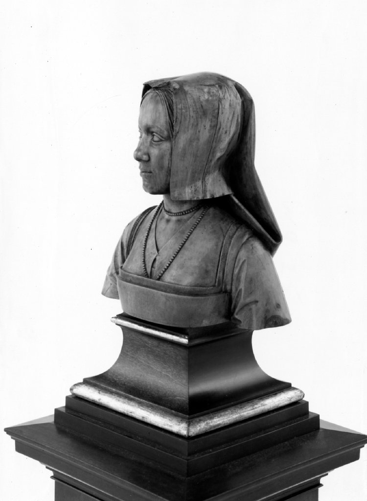 1504 - Margaret of Austria - by Conrad Meit - at the British Museum - http://www.britishmuseum.org/research/search_the_collection_database/search_object_details.aspx?objectid=32398&partid=1&searchText=margaret+of+austria+bust&fromADBC=ad&toADBC=ad&numpage