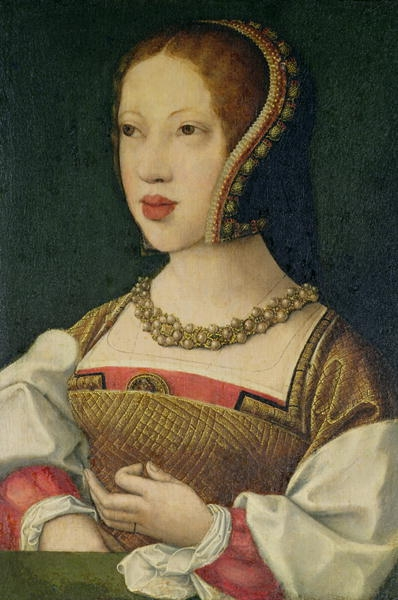 1530 (prior to) - Mary Tudor by Bernaert van Orley