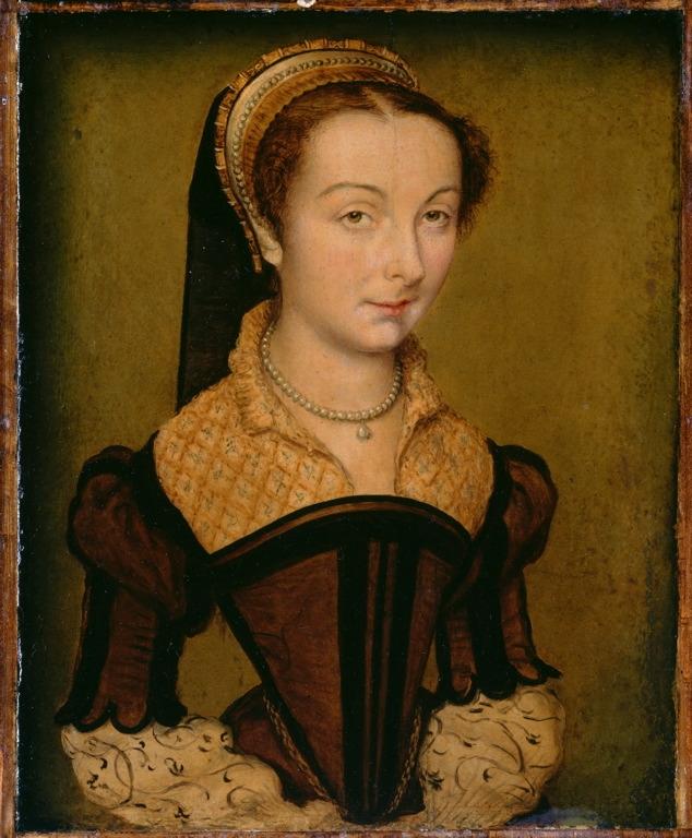 1555 - Corneille de Lyon - Portrait of Louise de Halluin, dame de Cipierre