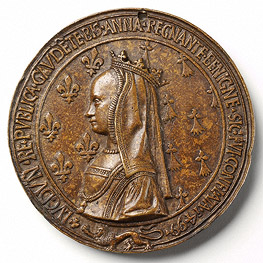 1499 - 'Portrait of Anne of Brittany'- Medal (reverse)- Nicolas Leclerc and Jean de Saint-Priest- France