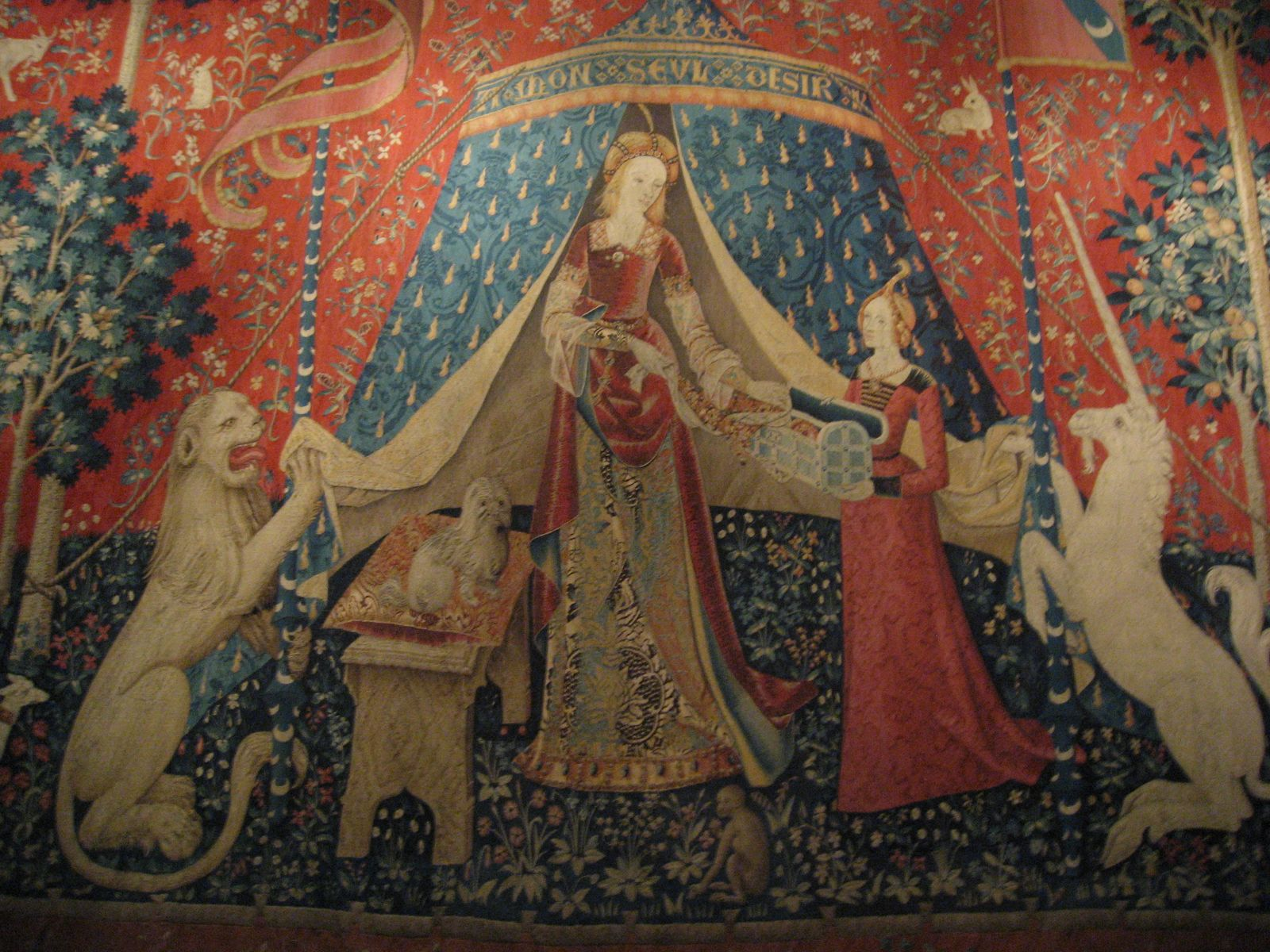 date unknown (late 15th century) - Lady and the Unicorn tapestry