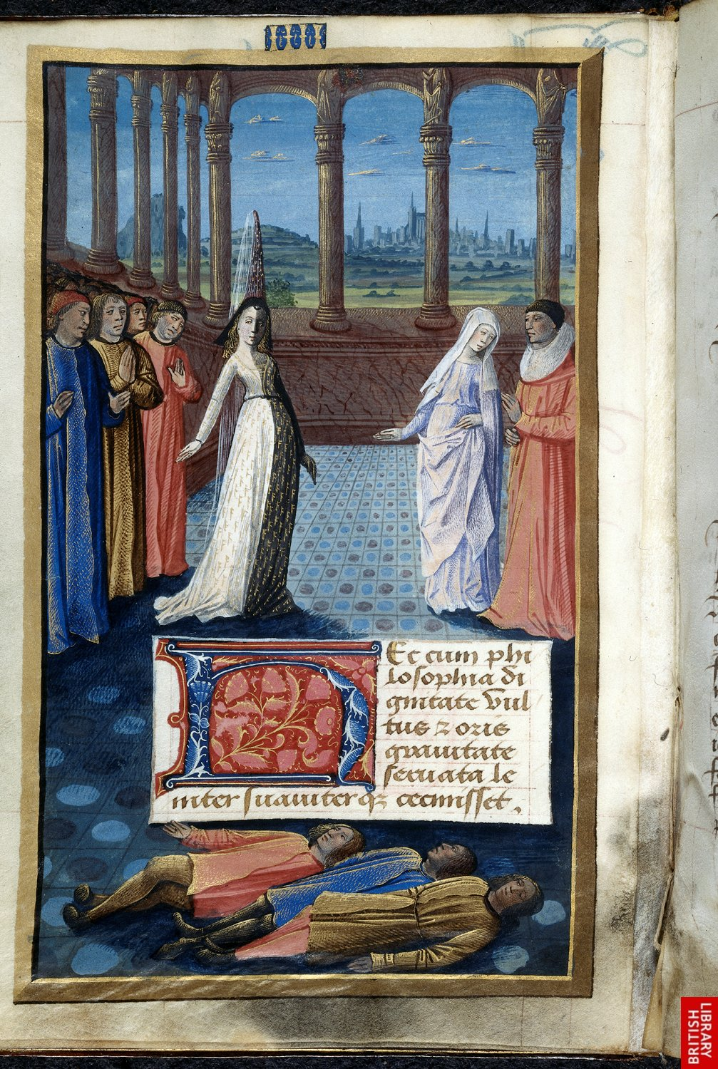 1477 - from Livre de Boece de Consolacion, book 2 - attributed to Jean Colombe