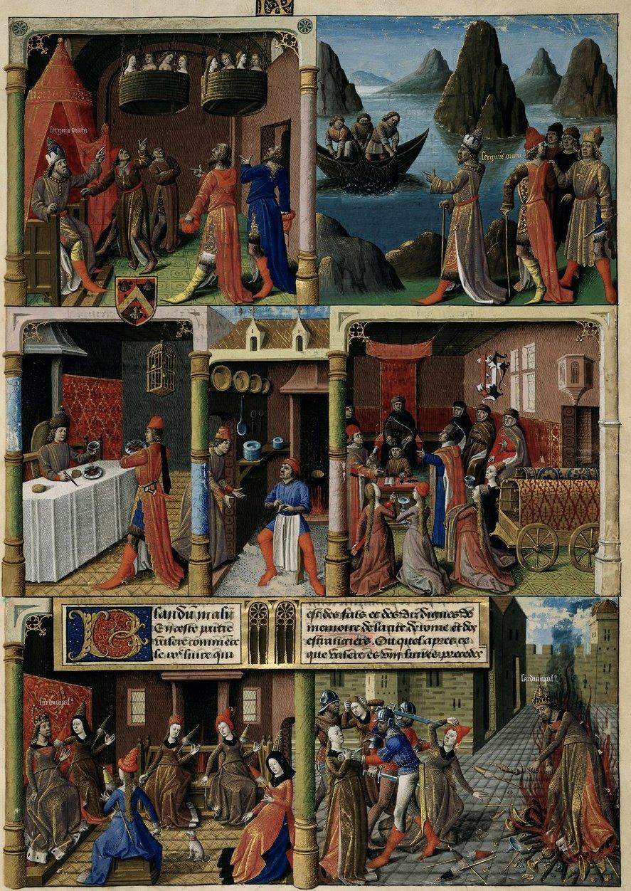 1473 -1480 - from Les Fais de le Dis des Romains et de autres gens - attributed to Maitre Francois