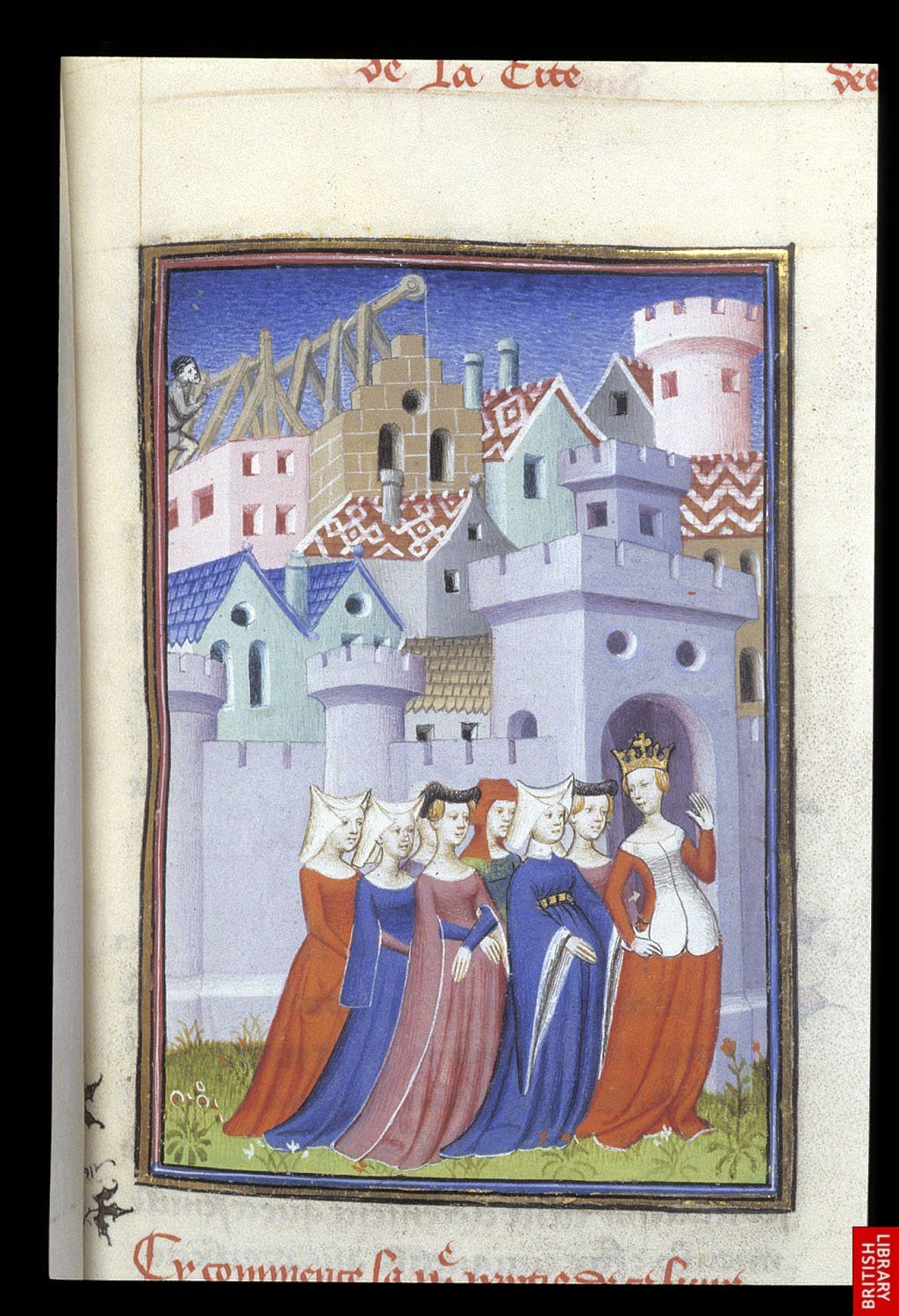 1410 - The Book of the Queen - entering the Cite des dames - by Master of the Cite Des Dames