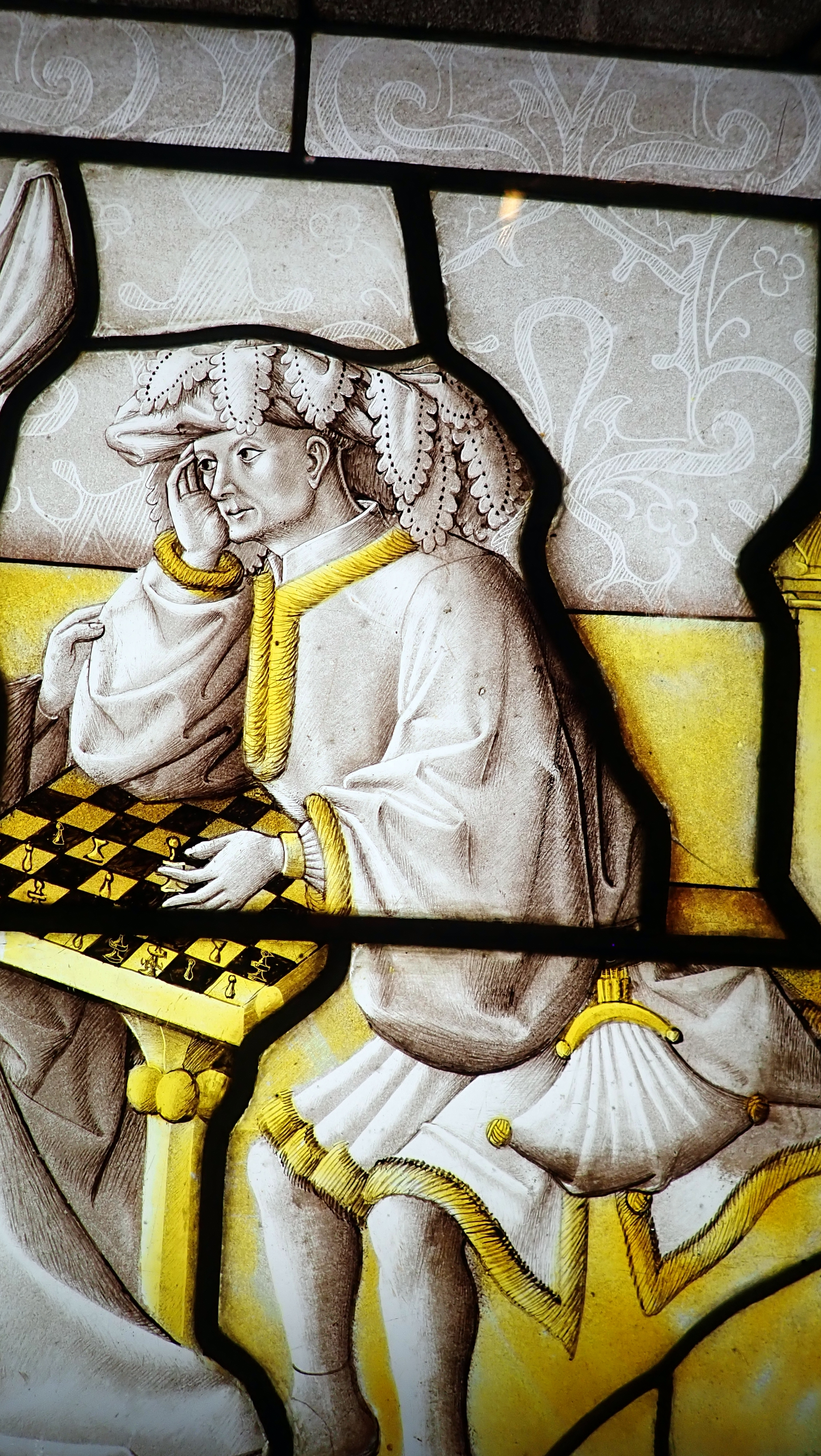 "1450 (approx) - Cluny museum - Window ""The joys of chess"" - France"