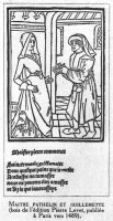 1489 - llustration from 'The Farce of Master Pathelin'