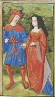 1495 - 98 - Young Love in the Spring Illuminated by the Master of Philippe of Guelders and the Master of Jacques de Besançon