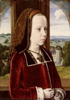 1490 - Portrait of Margaret of Austria, - Jean Hey (Master of Moulins)