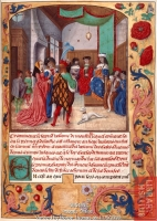date unknown (late 15th century) - Chroniques de France; Presentation to Charles VII by Jean de WAVRIN;