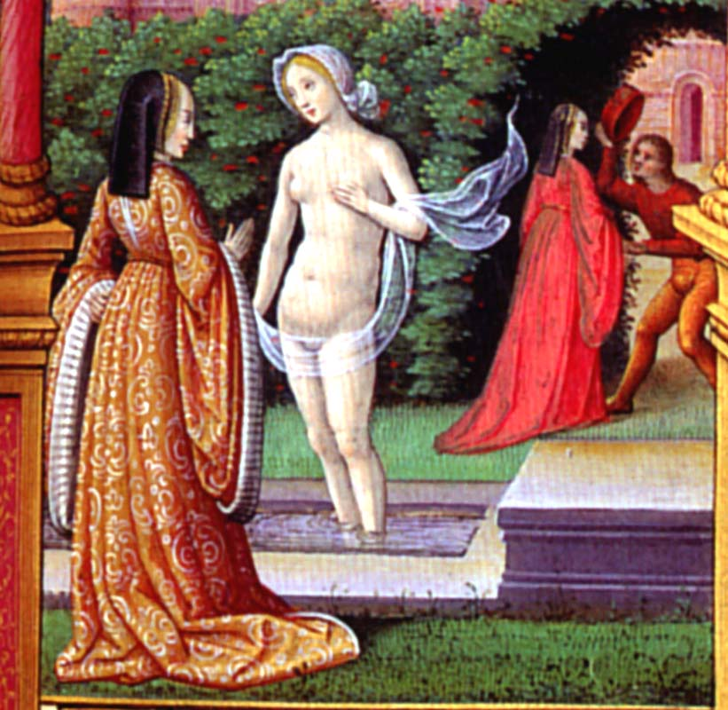 1515 - David and Bathsheba, Book of Hours, Artist Unknown, from Tours