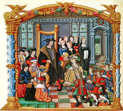 date unknown - Image from Memoirs of Philippe of Commines (his memoires were completed between 1498 and 1501, but not published until about 1524s)