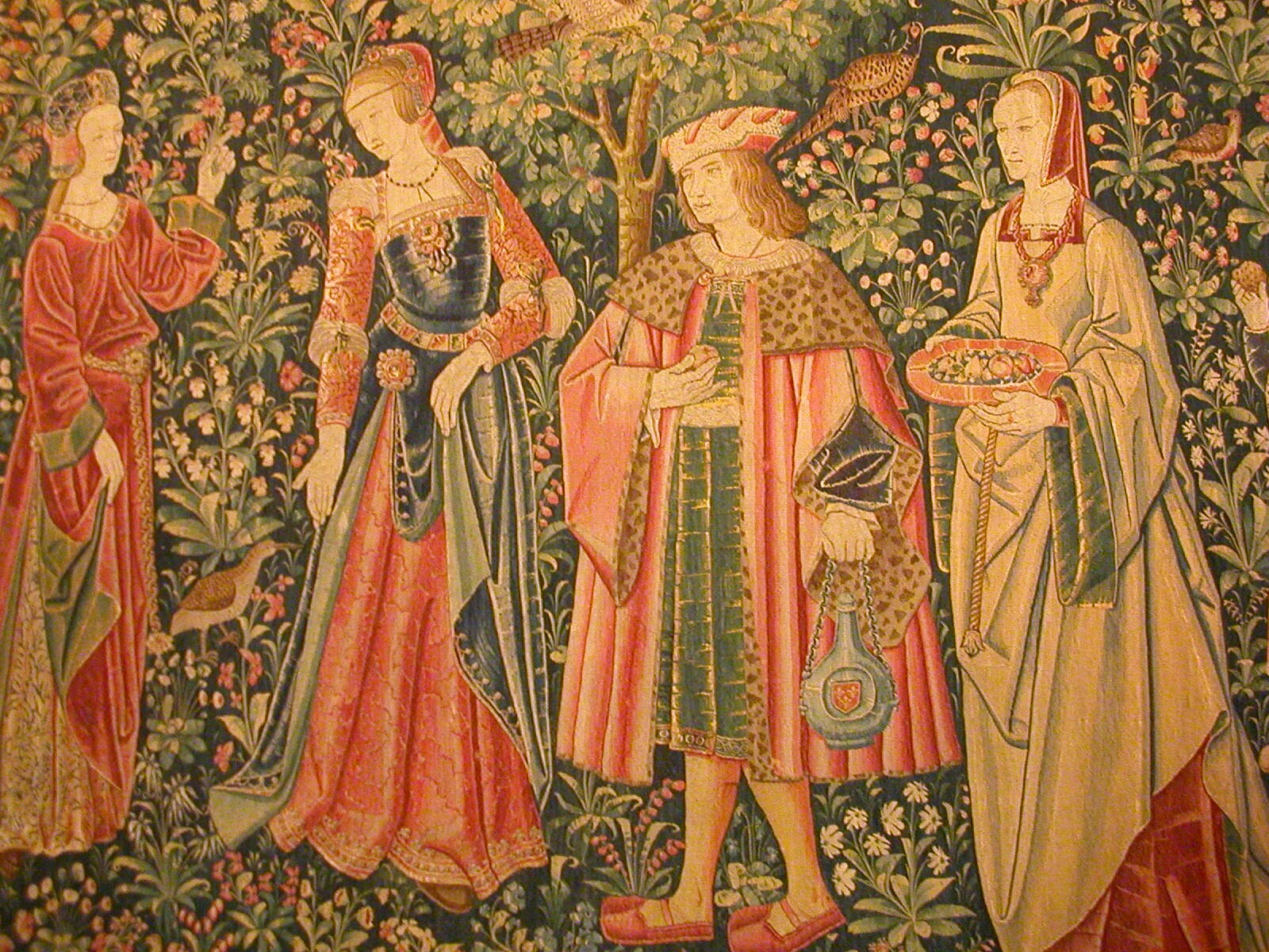 1500 (approx) - Tapestry of Court life - the promenade - at Cluny museum