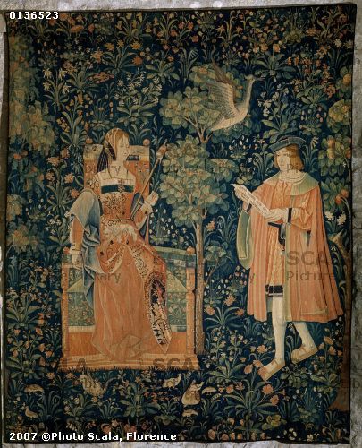 1500 (approx) - Tapestry of the scenes of Court: the reading - Cluny museum