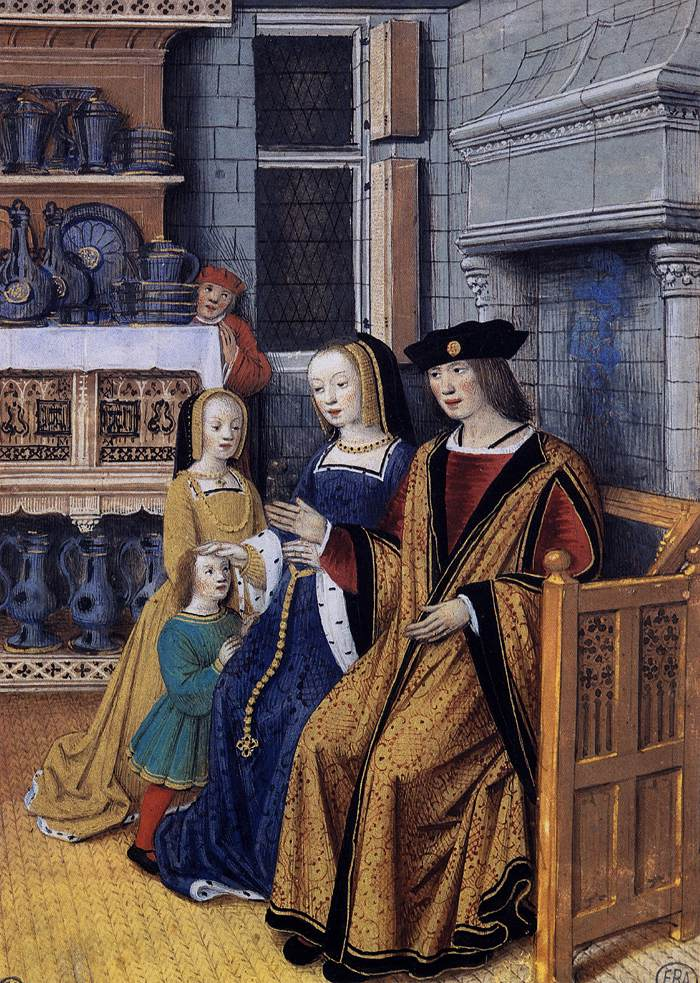 1500 -1510 - Jean Bourdichon - The Wealthy Man, Miniature, École nationale supérieure des Beaux-Arts, Paris