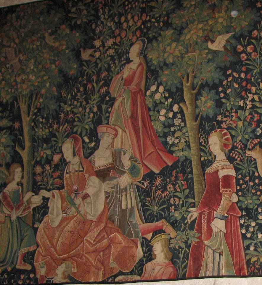 1500 (approx) - Tapestry from Cluny museum