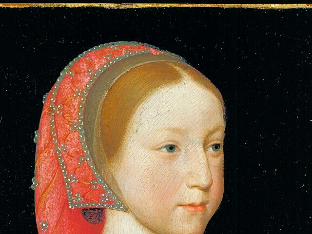 1522 - Portrait of Charlotte of France (detail) by Jean Clouet the Younger