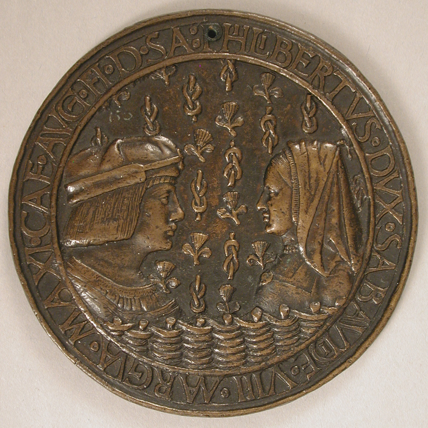 date unknown - Medal of Duke Philibert II of Savoy (1480-1504) and Margaret of Austria - at the Met