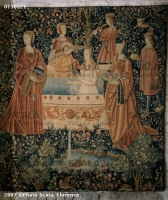 1500 (approx) - Tapestry of the scenes of Court: The bath - Cluny museum