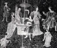1500 (approx) - Tapestry Danses et jeux à la Fontaine de l'amour,