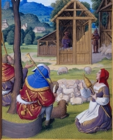 1500 - Book of Hours by Jean Poyer, known as The Hours of Henry VIII - Terce: Annunciation to the Shepherds