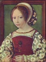 1520 (approx) - Young Girl with Astronomic Instrument by JAN (MABUSE) GOSSAERT