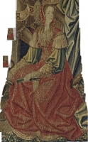 date unknown - A FRANCO-FLEMISH TAPESTRY FRAGMENT - The Triumph of Chastity over Love, depicting the seated figure of Penelope