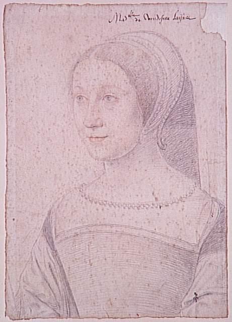 1534 - Marie de Bourbon, fille de Charles duc de Vendôme (1515-1538) - Jean Clouet