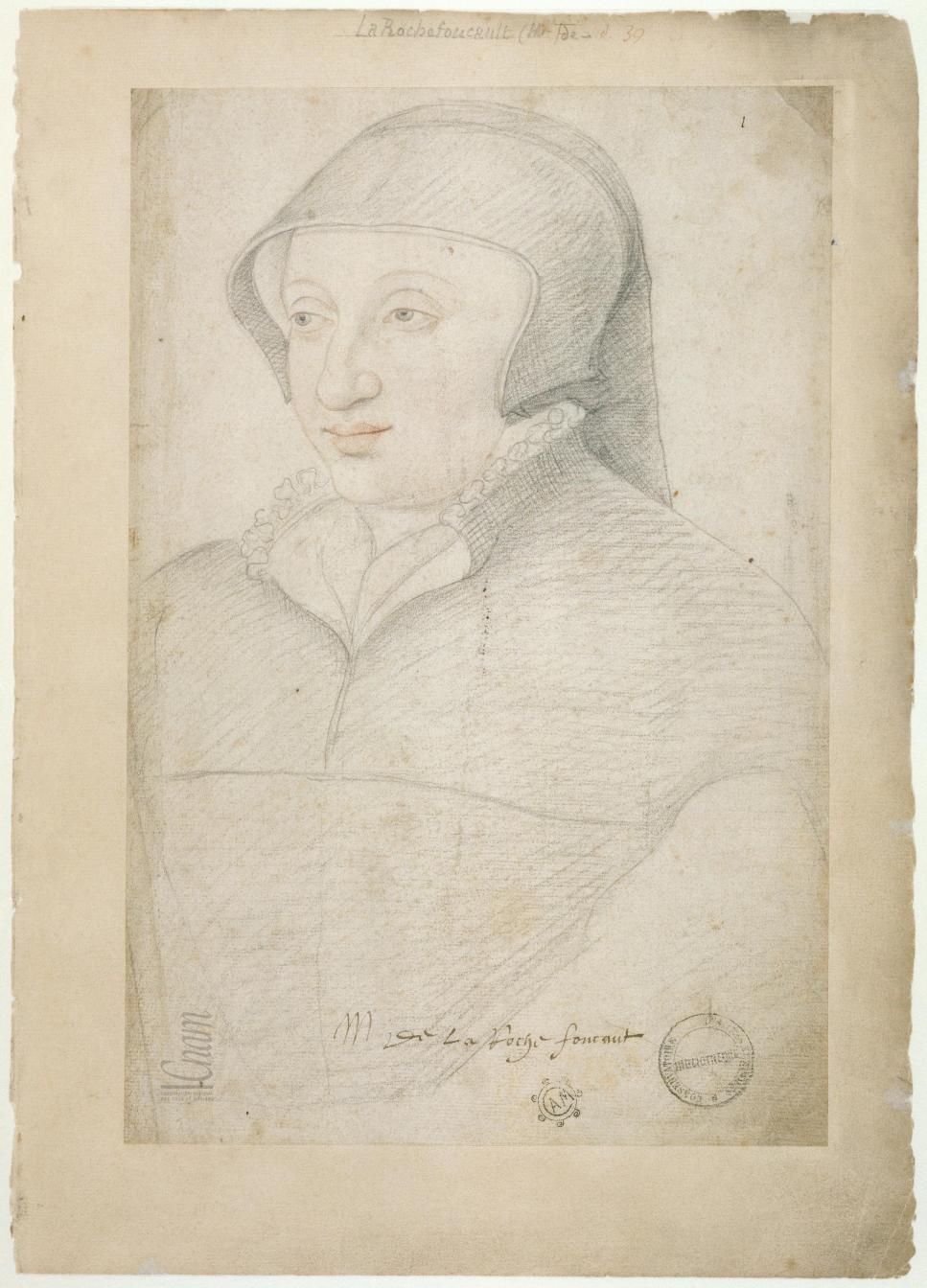 date unknown (subject died 1554) - Anne de Polignac, dame de La Rochefoucauld - from Le Recueil des Arts et Métiers