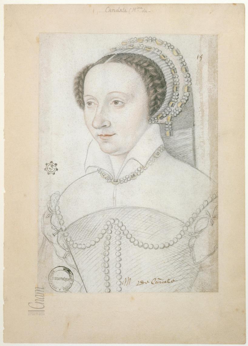 date unknown, after 1540 - Françoise de la Rochefoucauld, comtesse de Candale - from Le Recueil des Arts et Métiers