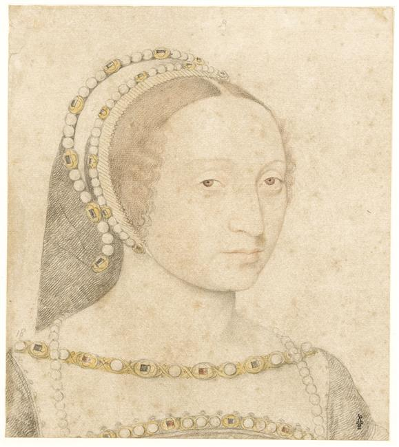 1530s (estimated) - Marie de Langeac, femme de Jean sire de Lestrange (1508-1588) - by Jean Clouet