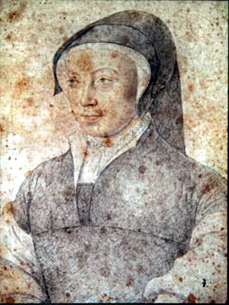 1545 - Anne de Montejean - by studio of Francois Clouet