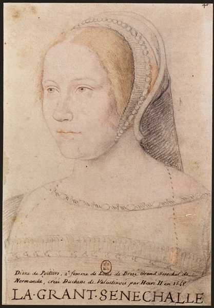 1525 (approx) Diane de Poitiers, mistress of King Henry II of France,