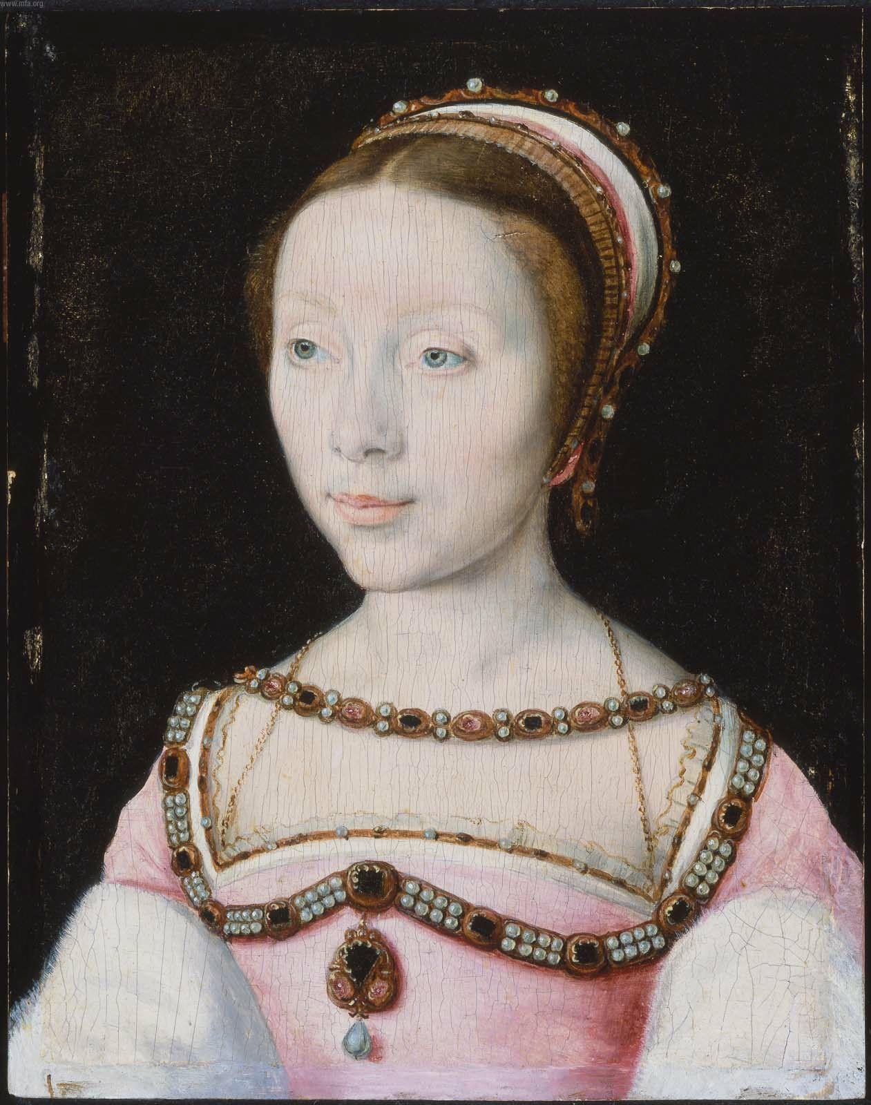 1536 (approx) Francoise de Longwy by Corneille de Lyon