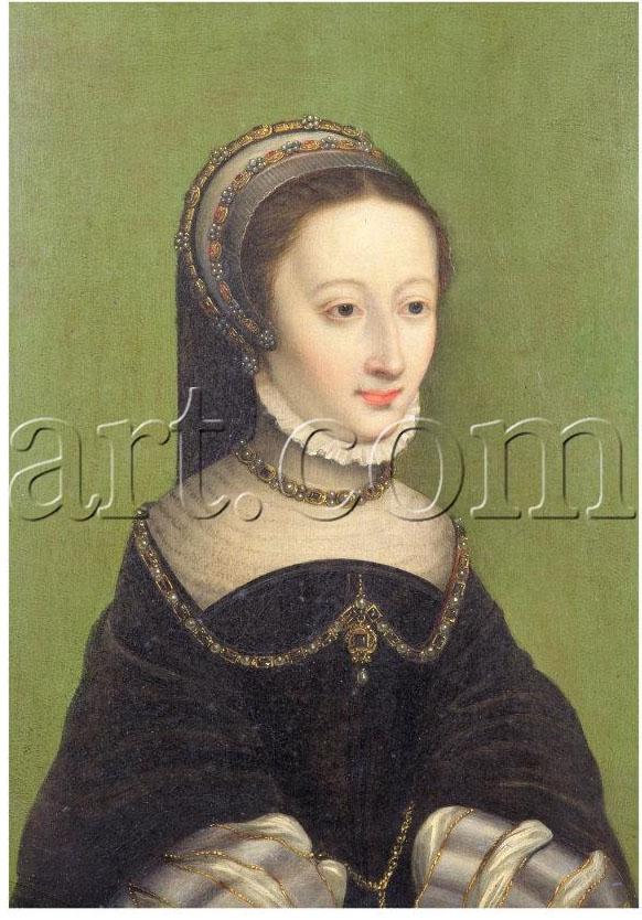 1540s (estimated) - Portrait of a Lady, Said to be Jeanne D'Albret, Mother of Henri IV of France - Corneille de Lyon