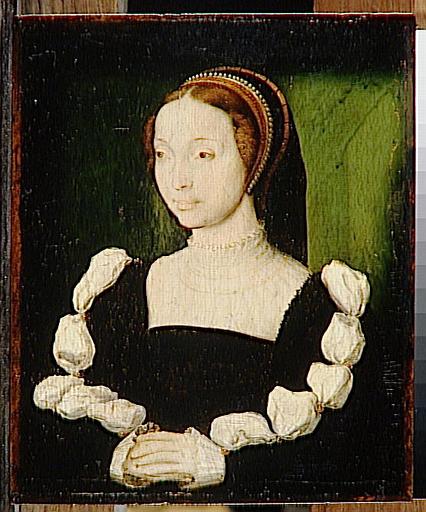1550 (approx) - PORTRAIT presumed to be of ANNE DE LA QUEILLE - CORNEILLE DE LYON - http://www.culture.gouv.fr