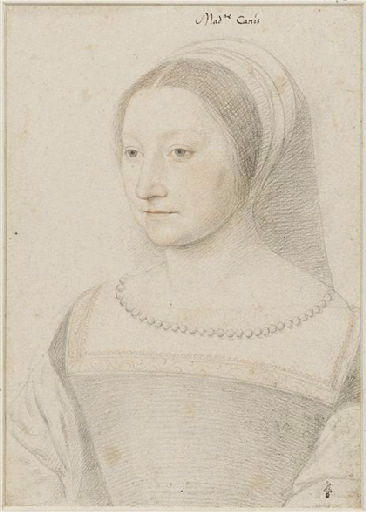 1538 - School of Jean Clouet - Péronne de Pisseleu - http://www.culture.gouv.fr