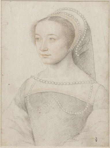 1540s - school of Jean Clouet - unknown woman (prob Lucrezia dei Rodolfi, dame d'Armanvilliers - http://www.culture.gouv.fr