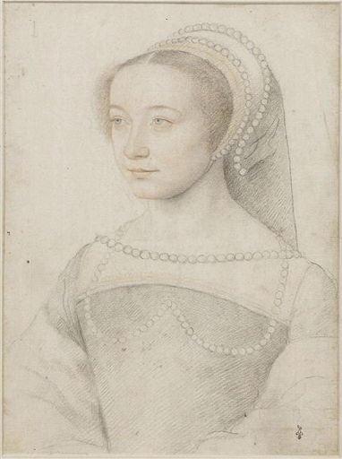 1540s - school of Jean Clouet - unknown woman (prob Lucrezia dei Rodolfi, dame d'Armanvilliers - http://www.culture.gouv.fr