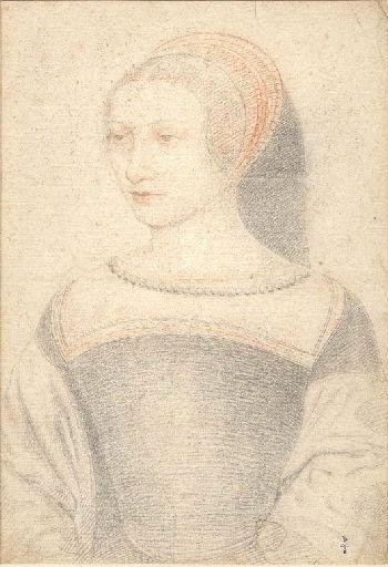 1549 (approx) - unknown woman (prob Charlotte de Moulin, demoiselle de Bry) - school of Clouet - http://www.culture.gouv.fr