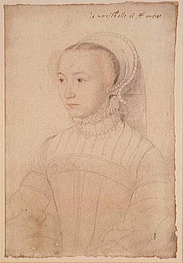 1548 - School of Jean Clouet - Marguerite de Lustrac - http://www.culture.gouv.fr/