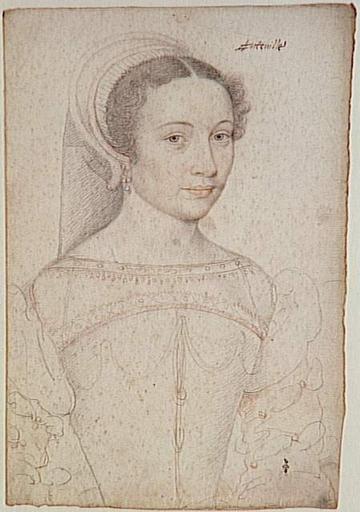 1545 (approx) - Isabeau d'Hauteville, dame de Châtillon by CLOUET François