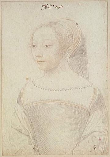 1540 - School of Jean Clouet - Louise de Clermont-Tallart, duchesse d'Uzès de Ballard de Tonnerre - http://www.culture.gouv.fr