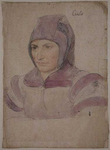 1534 (approx) - Catherine dite Cathelot, fool of queen Eléonore and later of Marguerite de France de Savoie - Jean Clouet - http://www.culture.gouv.fr/