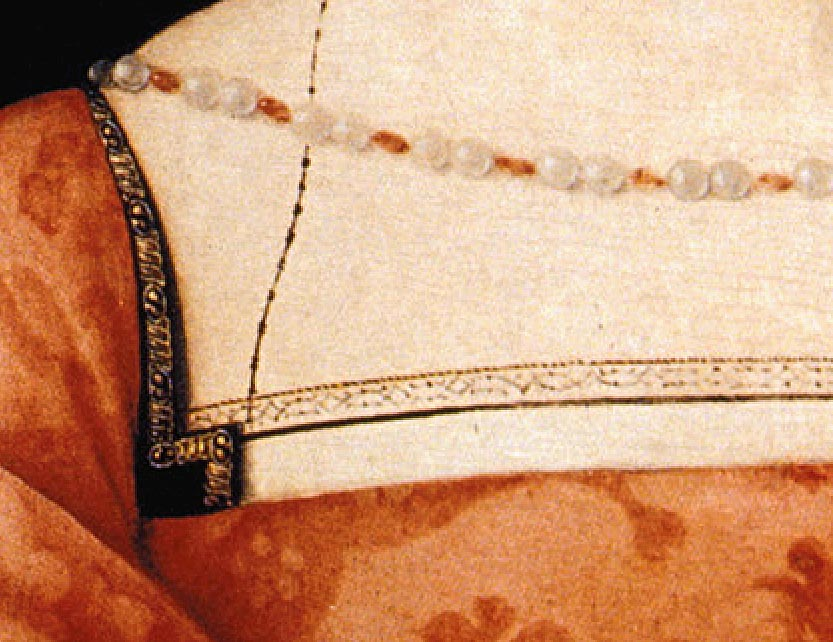 1525 - Mme Canaples (detail) by Jean Clouet