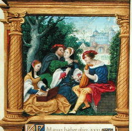 1525 - Book of hours - May (Making Music) - by Master Jean de Mauleon